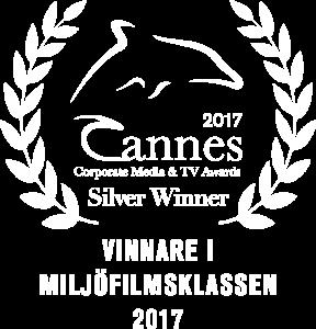 Cannes corporate media & TV awards silver winner 2017 award - vinnare i miljöfilmsklassen